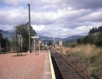 View north from the island platform at Bridge of Orchy in August <br> 1987.<br> <br><br>[John McIntyre&nbsp;/08/1987]
