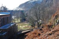 View from the Hydro powerstation (left) looking over the house located on the site of Loch Tay shed and towards Killin in February 2011. The station building may still exist here (it still stood in the late 80s as a private house, does anyone happen to know? updat e; confirmed as still standing 2009.)<br><br>[Ewan Crawford&nbsp;/02/2011]