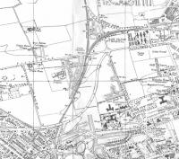The map of which this is an extract was produced at a special scale for ARP (Air Raid Precautions), though the imprint date appears to be 1947.�It has clearly been put together from maps at a slightly larger scale and with different revision dates: notice the disappearing housing estate at top right.� Craigleith Junction is at the very bottom, then Crew Junction. Understandably perhaps most of the map hadn't kept pace with inter-war developments around Crewe (note spelling) Toll, and East Pilton Halt (which opened in 1934) is not shown.� This wooden halt was situated between the hospital and Bruce Peebles' engineering works, an air-raid target.<br> <br><br>[David Panton&nbsp;//1947]
