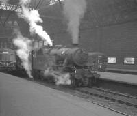 Fairburn 2-6-4T no 42273 is station pilot at Edinburgh Princes Street in February 1961.<br><br>[K A Gray&nbsp;11/02/1961]