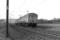 A Helensburgh to Airdrie service skirts the Clyde between Ardmore and Cardross in the early 1970s.<br> <br><br>[John McIntyre&nbsp;//]