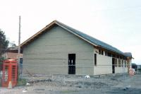The new station building under construction at Boness in 1997, view from the yard.<br><br>[Colin Miller&nbsp;//1997]