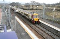 The 10.21 Edinburgh - Helensburgh Central runs into Armadale on 7 March 2011<br><br>[John Furnevel 07/03/2011]