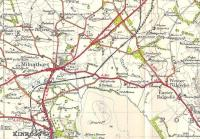 Part of the OS One Inch map of 1945 showing part of the then county of Kinross.� Kinross-shire was not large, and even this small extract shows its only town and its only substantial village (locally pronounced Mills-i-forth, for some reason).� Two junctions on the NBR Perth direct line are shown: Kinross, for the Devon Valley line to Alloa; and Mawcarse, the junction for the line to Auchtermuchty and Ladybank.�Mawcarse was - and is - nothing but a house, but the station survived 14 years after the closure of the branch until the main line was closed in 1964.� Crown copyright 1945.<br> <br><br>[David Panton&nbsp;//1945]