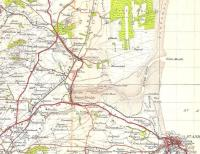 Detail from an OS One Inch Scottish Popular map of 1945 showing part of North Fife.� At top left there's St Fort (pronounced Sandford) and the junction with the North Fife line.� There's the already closed Leuchars (Old) at the start of the Tayport loop from Leuchars North Junction.� Leuchars South box controlled Milton Junction, the start of the East Fife line.� The closure here, at least as far as St Andrews, is regarded as one of the bigger Beeching mistakes.� Does anybody really call Dairsie 'Osnaburgh' the alternative shown on maps even today?� I dairsie only locals care.� Crown copyright 1945.<br> <br><br>[David Panton&nbsp;//1945]