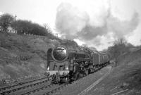 BR Standard class 9F 2-10-0 no 92097 with the RCTS <I>North Eastern No 2 Rail Tour</I> near Beamish on 10 April 1965.<br><br>[K A Gray&nbsp;10/04/1965]