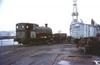No 6 shunting Falmouth Docks in July 1975.<br><br>[Ian Dinmore&nbsp;21/07/1975]