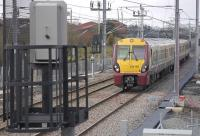 334 011 nears Bedlormie Toll bridge near Forrestfield with an eastbound train on 16 March 2011.<br> <br><br>[Bill Roberton&nbsp;16/03/2011]