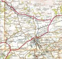 OS One Inch Map of 1925 showing the Kirkintilloch area.� The map was published in the same year as Back o' Loch Halt (back o' what loch?) opened and it has been rather hastily drawn in (below and to the left of KIRKINTILLOCH).� The trackbed at this point has only recently disappeared under a relief road.� A little further north this line, to Aberfoyle, is crossed by the single track Kilsyth line.� Crown copyright 1925.<br> <br><br>[David Panton&nbsp;//1925]