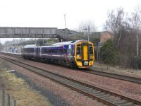 ScotRail 158730 leaves Brunstane for Newcraighall on 16 March 2011.<br><br>[David Panton&nbsp;16/03/2011]
