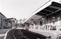 The NYMR station at Pickering as it appeared in July 1992. The station is currently (2011) being changed out of all recognition by the addition of an overall roof.<br> <br><br>[Colin Miller&nbsp;/07/1992]