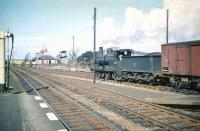 Caley <I>Jumbo</I> 57451 pulls out of the loop at Symington in April 1959 and heads north after being held for a passing express.<br><br>[A Snapper (Courtesy Bruce McCartney)&nbsp;04/04/1959]