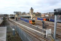 View north west across the platforms at Lincoln station on 20 March 2011.<br><br>[John McIntyre&nbsp;20/03/2011]
