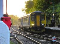 A class 156 calls at Brundall in 2005 with a Great Yarmouth - Norwich service.<br><br>[Ian Dinmore&nbsp;//2005]