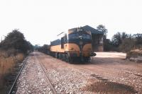 An arrival at Kingscourt stone terminal, Co Cavan, in 1988. The line was latterly used for gypsum traffic but has been out of use for several years.<br><br>[Ian Dinmore&nbsp;//1988]