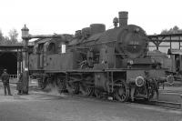 The shed at Rottweil in the Black Forrest possessed the last active ex KPEV�T18 4-6-4T on the DB, No. 78 246 (the leading 0 and the final check�digit have been painted out to give it back its pre-computerisation�number).� On 4 September 1974 it was acting as Rottweil station pilot�and is seen here at midday when it visited the shed for some refreshment. <br><br>[Bill Jamieson&nbsp;04/09/1974]