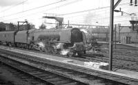 46225 <I>Duchess of  Gloucester</I> at Crewe with a Holyhead - Euston train on 10 August 1962.<br><br>[K A Gray&nbsp;10/08/1962]