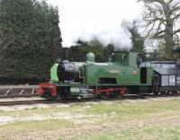 <I>Isibutu</I>, a former South African sugar company Bagnall 4-4-0T of 1945, seen in action on 27 March 2011 on the Statfold Barn Railway.   <br><br>[Peter Todd&nbsp;27/03/2011]