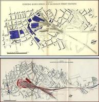 Old maps produced by the British Transport Commission in 1951. The one above shows Glasgow's Queen Street and Buchanan Street stations, while that below shows a proposed new North station to replace them.<br> Images ex Hipkiss.<br><br>[Alistair MacKenzie&nbsp;//1951]