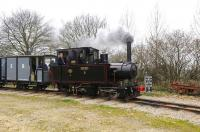 <I>Pakis Baru No�5</I>, an O&K 0-4-4-0T Mallet�of 1905, ex- Indonesian sugar mill, seen on 27 March with a train on the Statfold Barn Railway.<br> <br><br>[Peter Todd&nbsp;27/03/2011]