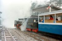 On loan RHDR <I>'Black Prince'</I> leaving Ravenglass in 1982.<br> <br><br>[Colin Miller&nbsp;//1982]