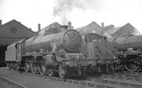 Jubilee no 45701 <I>Conqueror</I> is amongst the locomotives on shed at Kingmoor on 3 June 1960.<br><br>[K A Gray&nbsp;03/06/1960]