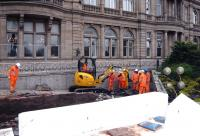 Work finally underway on Waverley Steps. Photographed on 31 March 2011.<br><br>[Colin Miller&nbsp;31/03/2011]