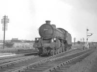 B1 4-6-0 no 61132 near Thornton Weighs signal box in October 1965 with Thornton Junction shed behind the camera. [See image 27241]<br><br>[K A Gray&nbsp;19/10/1965]