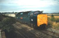 Deltic no 55005 <I>The Prince of Wales's Own Regiment of Yorkshire</I> takes a southbound train past the site of Aberlady Junction on the ECML in 1978. <br><br>[Bruce McCartney&nbsp;//1978]