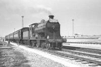Ex-NBR 4-4-0 <I>Glen Douglas</I> with the SLS/MLS 'Carlisle Rail Tour' standing in a siding alongside Kingmoor Yard on 6 April 1963 during a photostop.<br><br>[K A Gray&nbsp;06/04/1963]