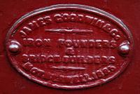 Builder's plate for the span of the Albert Drive bridge which crosses the Cathcart Circle. The plate reads <br><center><i>JAMES GOODWIN&Co<br>IRON FOUNDERS<br>&<br>BRIDGE BUILDERS<br>MOTHERWELL.1886</i></center><br>which suggests this is the original bridge over the line. Goodwin must have been busy as they were also undertaking the Jubilee Bridge over the Hooghly River in India about the same time.<br><br>[Ewan Crawford&nbsp;27/03/2011]