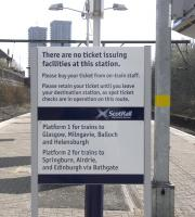 As at March 2011 Bellgrove must be the busiest unstaffed station in Scotland, certainly in terms of train numbers.� It doesn't even have a ticket machine.<br><br>[David Panton&nbsp;26/03/2011]