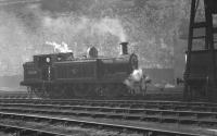 E4 0-6-2T no 32468 photographed on Brighton shed in October 1962.<br><br>[K A Gray&nbsp;29/10/1962]