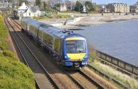 170 418 has just past the former station at West Ferry on 8 April 2011 as it heads south towards Dundee.<br><br>[Bill Roberton&nbsp;08/04/2011]