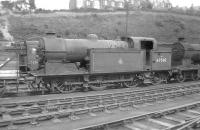 Gresley N2 0-6-2T no 69510 stands in the shed yard at Hawick in August 1957.<br><br>[A Snapper (Courtesy Bruce McCartney)&nbsp;10/08/1957]