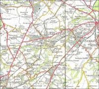 Scottish Borders is the most obvious mainland Scottish council area <br> without a railway station but there is one other: Midlothian.� Things were very different in the past when there was quite a decent network as can be seen on this extract from the 1957 OS One Inch map.� Apart from the Waverley Route (extreme right) there is the line to Peebles.�Already closed to passengers are the branches to Glencorse (going through Loanhead), Polton and Penicuik.� The Penicuik line is the one through Auchendinny.<br> <br><br>[David Panton&nbsp;//1957]