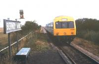 <I>Just missed it!</I> The remote station of Berney Arms in the Norfolk Broads in August 1992.<br><br>[Ian Dinmore&nbsp;/08/1992]