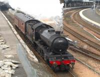 61994 <i>The Great Marquess</i> heading out of Perth and back to Thornton on 20 April 2011 after operations in connection with <I>The Great Britain IV</I> railtour.<br><br>[Brian Forbes&nbsp;20/04/2011]