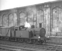 Fowler 3F <I>'Jinty'</I> 0-6-0T no 47326 is duty station pilot at Carlisle on 24 July 1965 The locomotive is seen here standing in the sidings on the west side of the station.<br><br>[K A Gray&nbsp;24/07/1965]