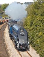 The morning <I>Forth Circle</I> special photographed on 24 April nearing Burntisland station behind no 60007 <I>Sir Nigel Gresley</I>.<br><br>[Bill Roberton&nbsp;24/04/2011]