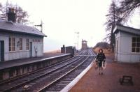 View towards Killin East Junction signal box at Easter 1966, with the main line to Callander to the right and the Killin branch dropping away to the left. Killin Junction was unusual in having no road access, with Table 33 of the BR timetable of the day referring to <I>'Killin Junction (Exchange Platform only)'</I>. When the photographer and his family walked across the moor to the junction during a holiday from Edinburgh, they found a scene reminiscent of the <I>Marie Celeste</I>. Everything appeared intact, with the station log book still open at the final entry before the landslip in Glen Ogle had permanently closed the line between Callander and Crianlarich on 27th September 1965.<br><br>[Frank Spaven Collection (Courtesy David Spaven)&nbsp;//1966]