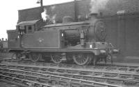 An N7 0-6-2T, no 69621, photographed at 30A Stratford shed in October 1961. This locomotive has since been preserved [see image 44551].<br><br>[K A Gray&nbsp;09/10/1961]