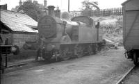 Stanier 0-4-4T no 41900 stands at the back of the shed at Wellington (Salop) in the summer of 1960.<br><br>[K A Gray&nbsp;13/08/1960]