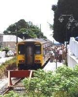 Platform scene at Gunnislake in June 1997.<br><br>[Ian Dinmore&nbsp;/06/1997]