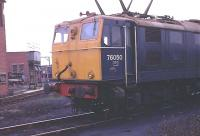 The very first loco on BR to be renumbered under the TOPS scheme was a Class 76, 1500v DC <I>Woodhead Electric</I>. The former E26050 <I>Stentor</I> became 76050 -  and I visited Reddish in 1971 specially to photograph it. All the other EM1s on this date still had E-prefix numbers. 76050 later became 76038 before its eventual withdrawal in 1981. <br><br>[Mark Bartlett&nbsp;//1971]