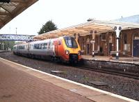 One of several Virgin Voyagers to pass through Dumfries on 23 April 2011 due to PW works on the West Coast Main Line between Carlisle and Glasgow Central. <br> <br><br>[Brian Smith&nbsp;23/04/2011]