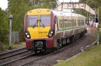 334 009 leaves Bowling with an eastbound service on 8 May.<br><br>[Bill Roberton 08/05/2011]