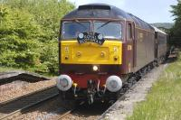<I>The Royal Scotsman</I> hauled by 57001 runs through Rosyth on 9 May.<br> <br><br>[Bill Roberton&nbsp;09/05/2011]