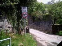 About a mile East of Sennybridge, the N&B line crossed the River Usk at an angle, whereas this minor road takes the direct route. The road bridge may be weak, but it can carry 18 tons more than the rail bridge! View looks North in May 2011.<br><br>[Ken Strachan&nbsp;08/05/2011]