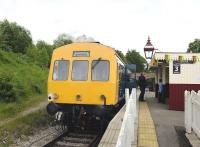 Platform scene at Wirksworth, on the Ecclesbourne Valley Railway, on 15 May 2011.<br><br>[Peter Todd&nbsp;15/05/2011]